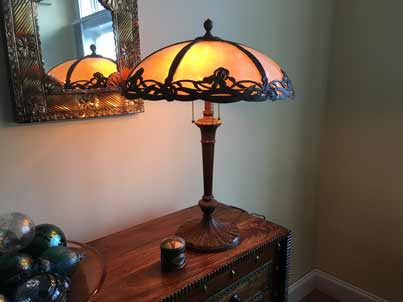 slag glass lamp repair in Oregon, OR