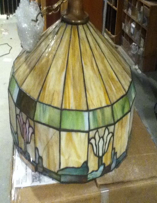 Stained glass flower lamp repairs